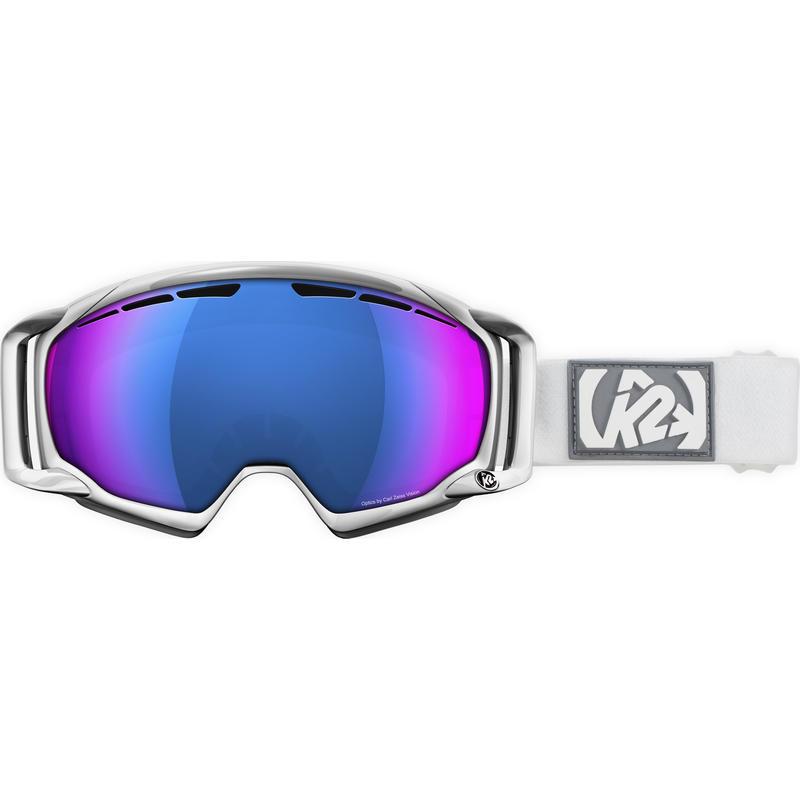 Lunettes de ski Captura Blanc/Miroir Octic infrarouge bleu