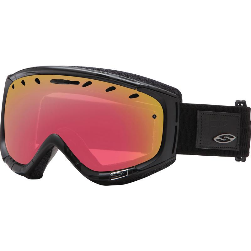 Lunettes de ski Phase Danger noir/Capteur rouge