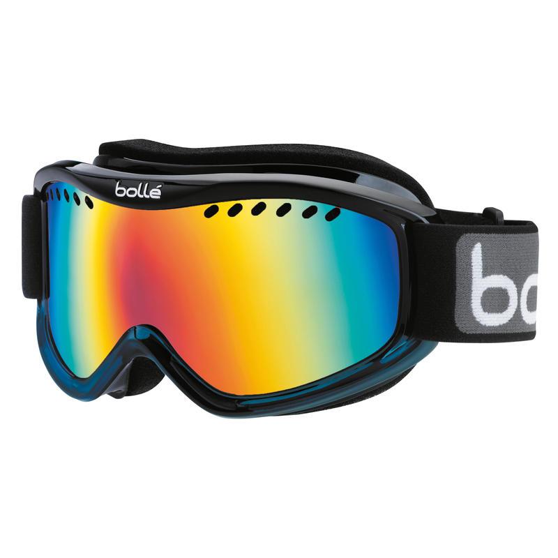 Lunettes de ski Carve Bleu noir délavé/Aube