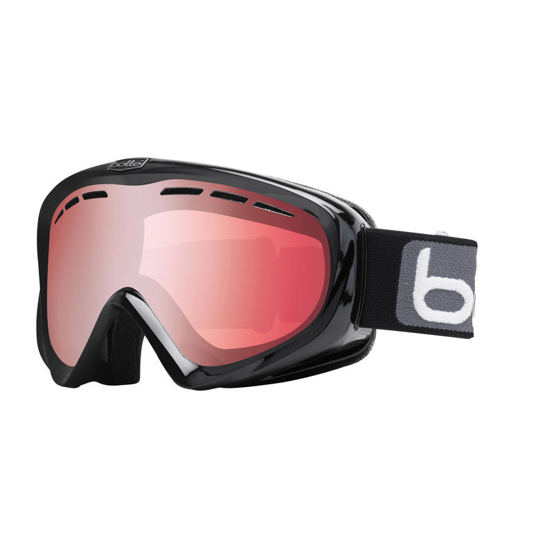 Y6 OTG Goggles Shiny Black/Vermillion Gun