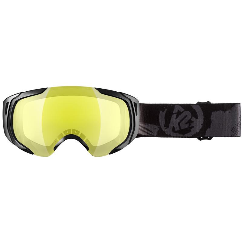 Lunettes de ski Photoantic DLX Noir luisant/Miroir Tripic argent jaune