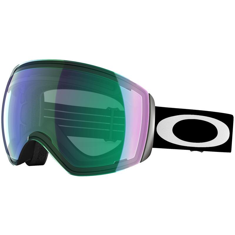Lunettes de ski Flight Deck Noir mat/Iridium jade Prizm