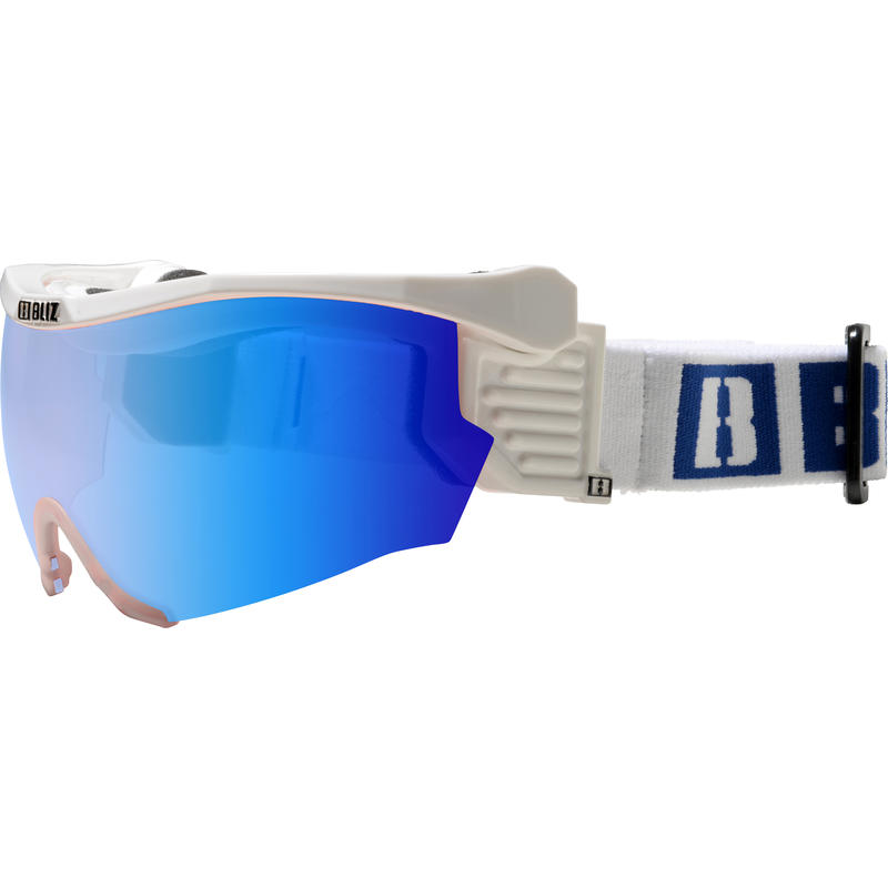 Pro Flip XT Visor White/Smoke w Blue Multi
