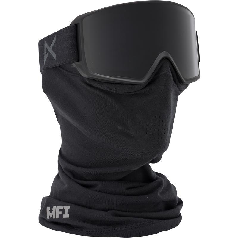 Lunettes de ski M3 MFI avec masque facial Noir/Fumée sombre