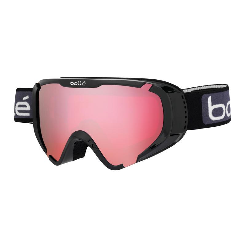 Lunettes de ski Explorer OTG Noir luisant/Vermillon