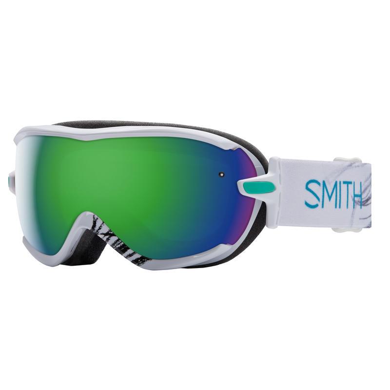 Lunettes de ski Virtue Plumes blanches/Vert Sol-X miroir