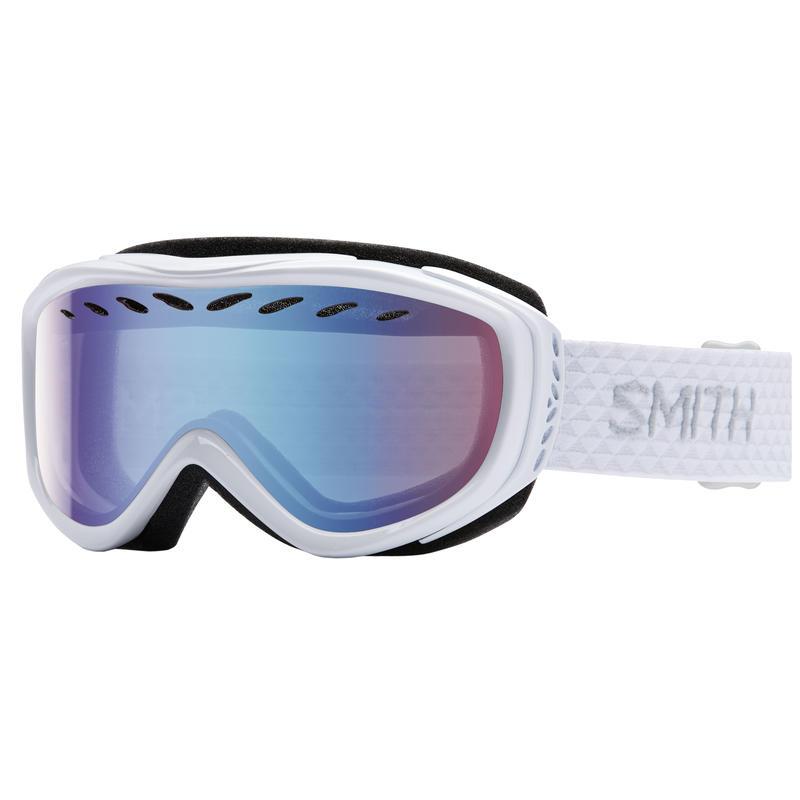 Lunettes de ski Transit Blanc/Bleu capteur miroir