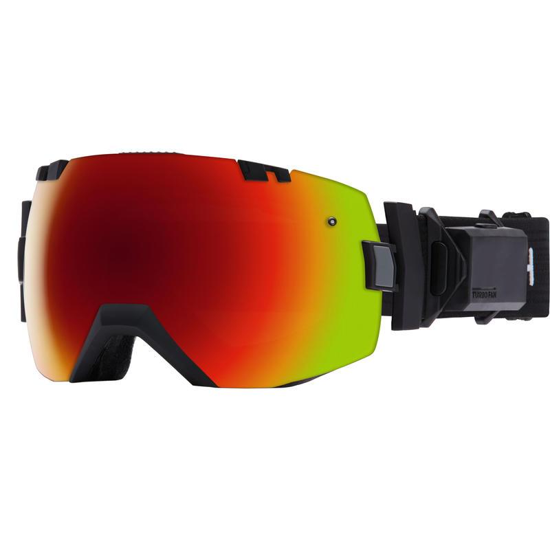 Lunettes de ski I/O X Turbo Fan Noir/Rouge Sol-X miroir