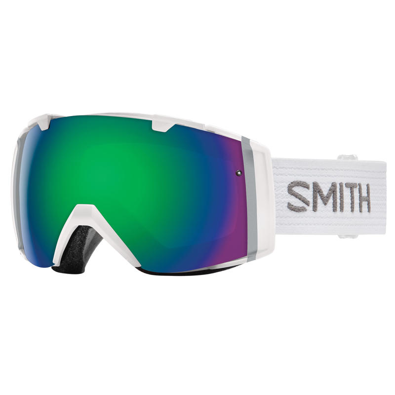 Lunettes de ski I/O Blanc/Vert Sol-X miroir