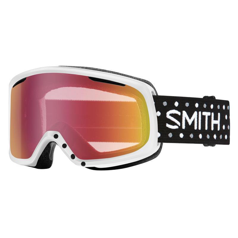 Lunettes de ski Riot Pois blancs/Miroir capteur rouge