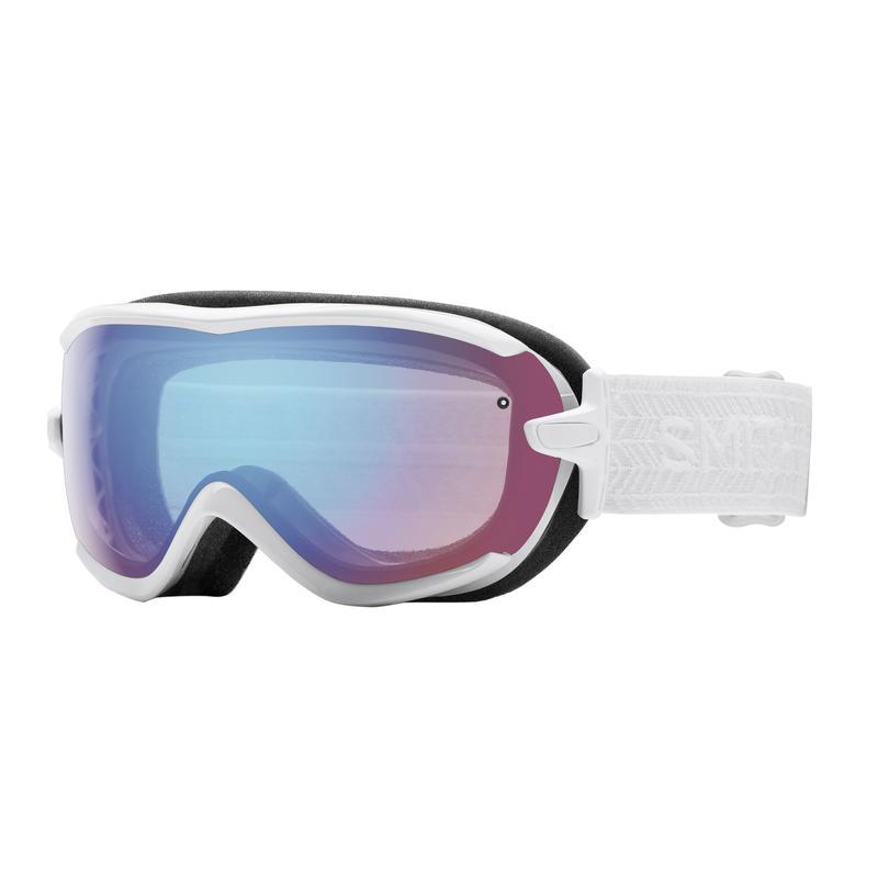 Lunettes de ski Virtue Éclipse blanc/Miroir capteur bleu