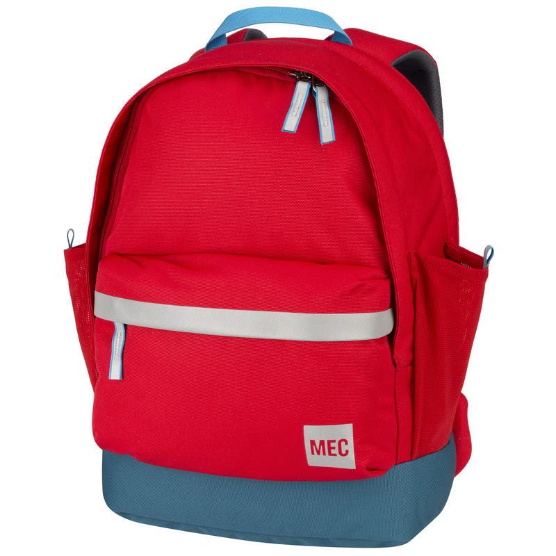 Junior Book Bag Red Pepper/Blue Suede