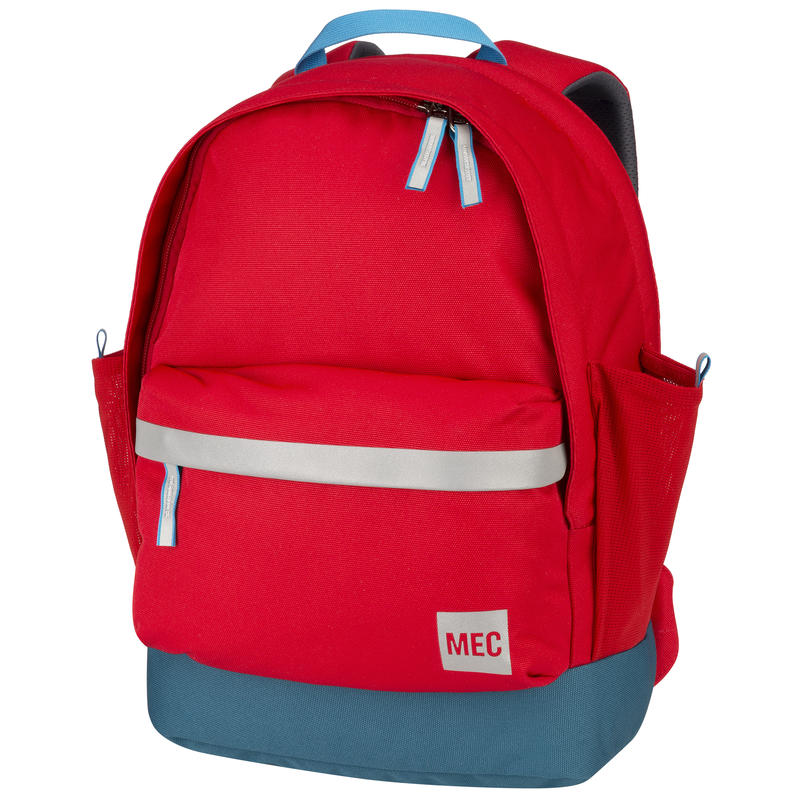 Junior Book Bag Red Pepper/Blue Suede