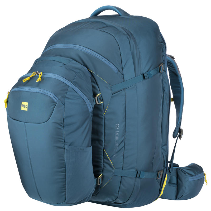 Supercontinent 75 Travel Pack Blue Depth/Blue Suede