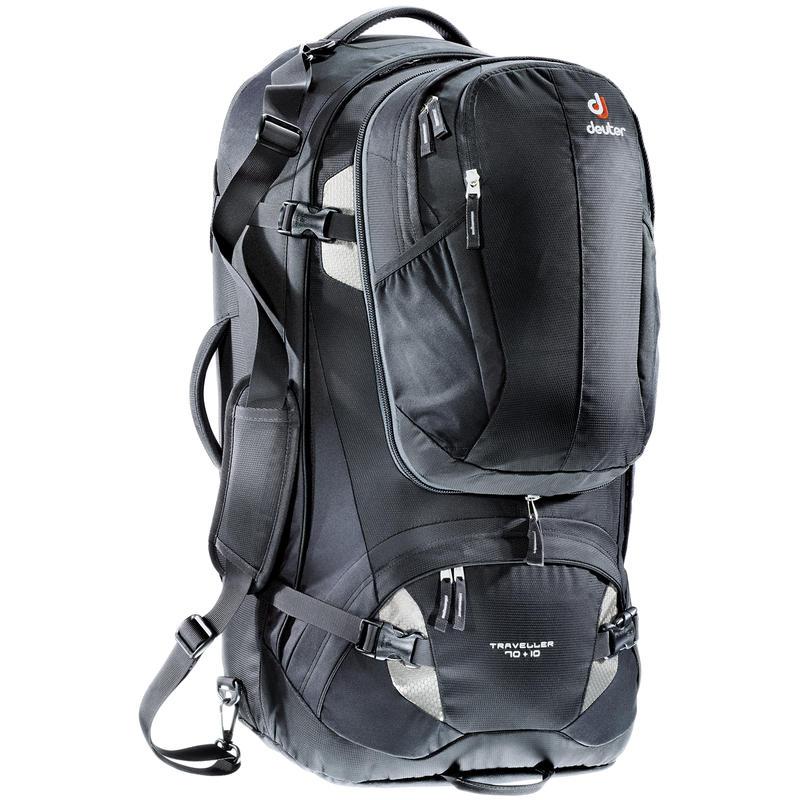 Traveller 70+10 Backpack Black/Silver