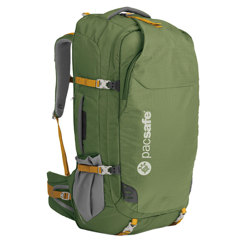 Venturesafe 65L GII Anti-Theft Travel Pack Olive/Khaki