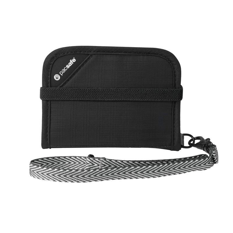 Portefeuille compact RFIDsafe V50 Noir