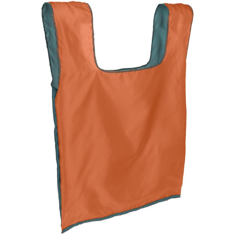 Sac à provisions compact Sarcelle/Orange