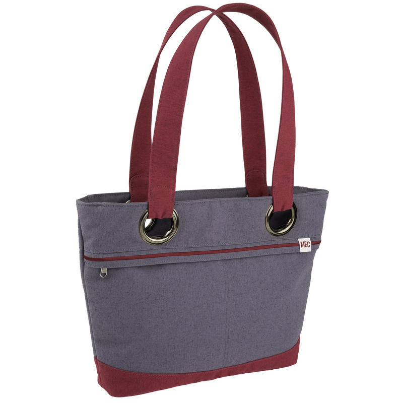 Durban Tote Graystone/Beet Red