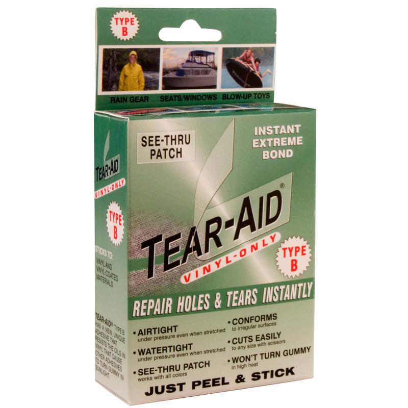 Pièces de réparation Tear-Aid de type B Transparent