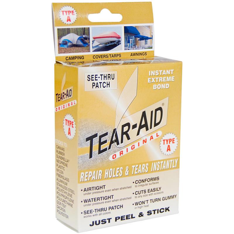 Pièces de réparation Tear-Aid de type A Transparent