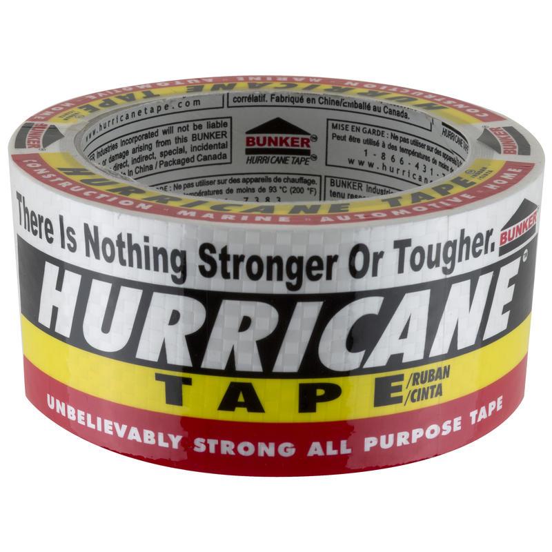 Rouleau de ruban Hurricane (48 mm x 18 m) Blanc