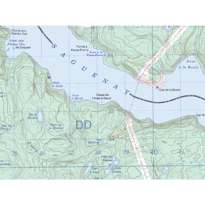 Carte de Kayak-Camping Fjord du Saguenay