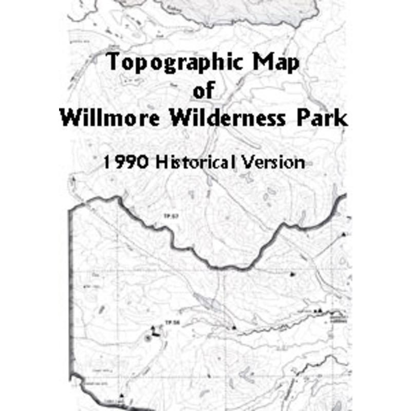 Willmore Wilderness Topo Map
