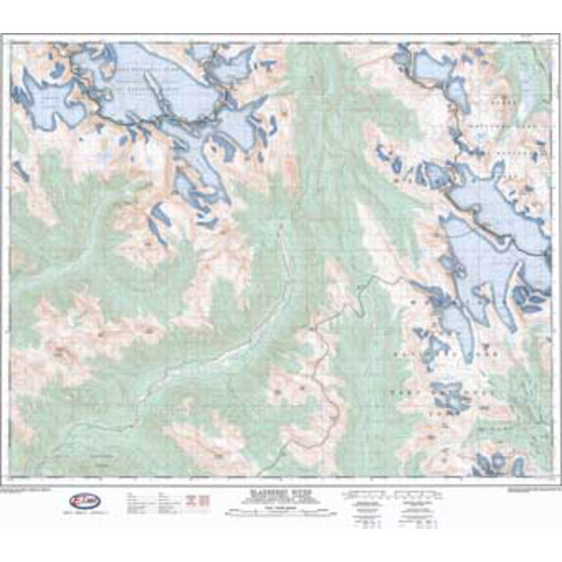 Bodies Of Water In California Map.Nts Map 82n10 Blaeberry River Mec