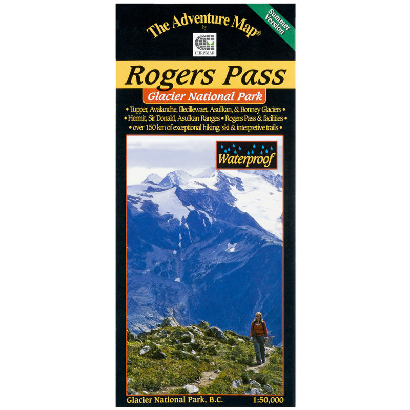 Glacier National Park - Rogers Pass Summer Map