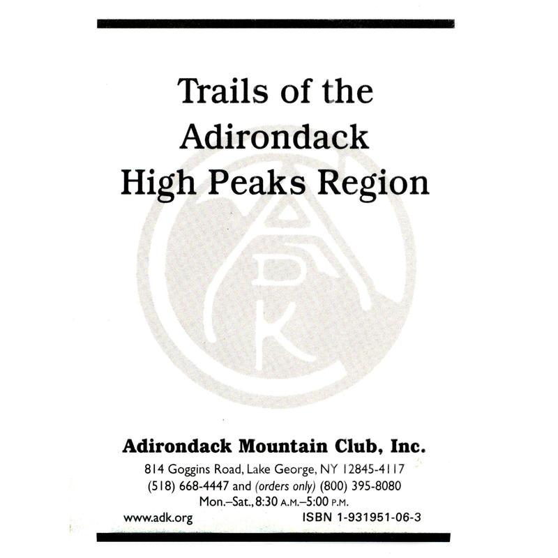ADK Adirondack Trail Map: High Peaks Region