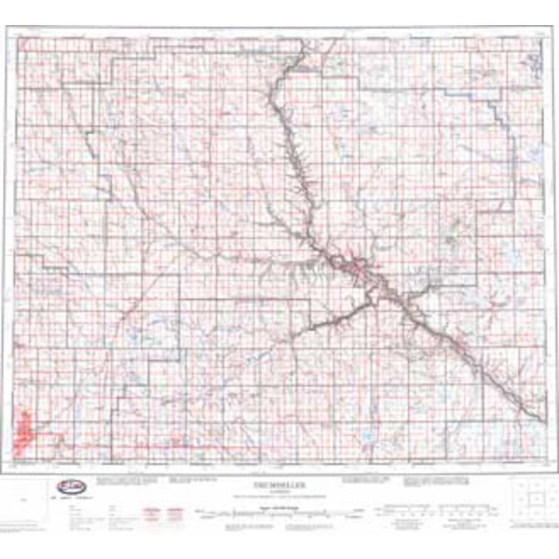 NTS Map 82P-Drumheller