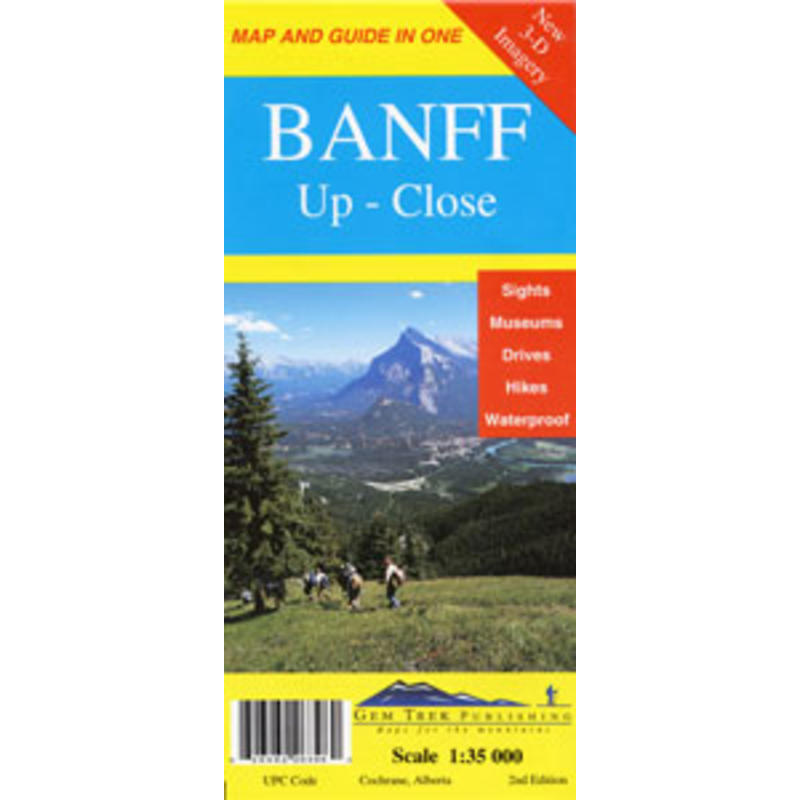 Banff Up Close Map 2nd Edition
