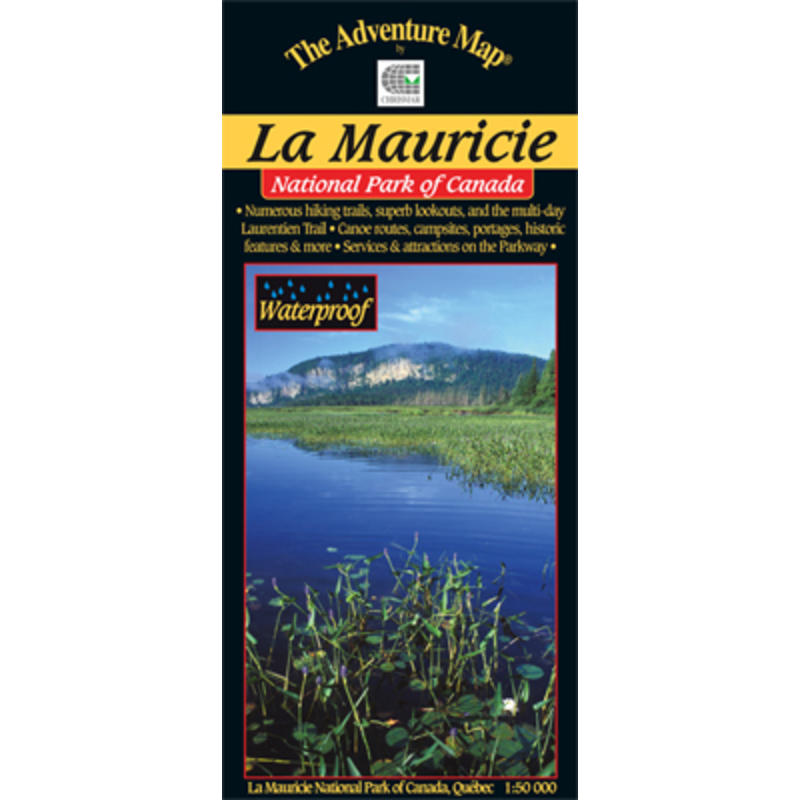 Carte du Parc national de la Mauricie