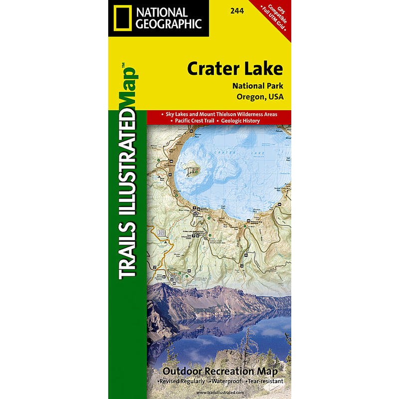 Crater Lake National Park Trail Map