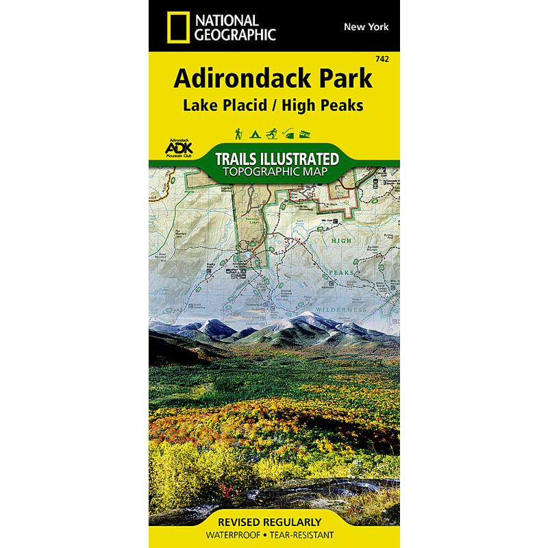 Adirondak Park Lake Placid/High Peaks Map ADK 742