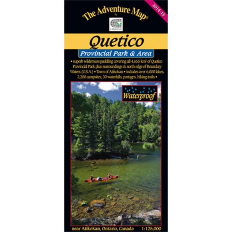 Quetico Provincial Park& Area Map