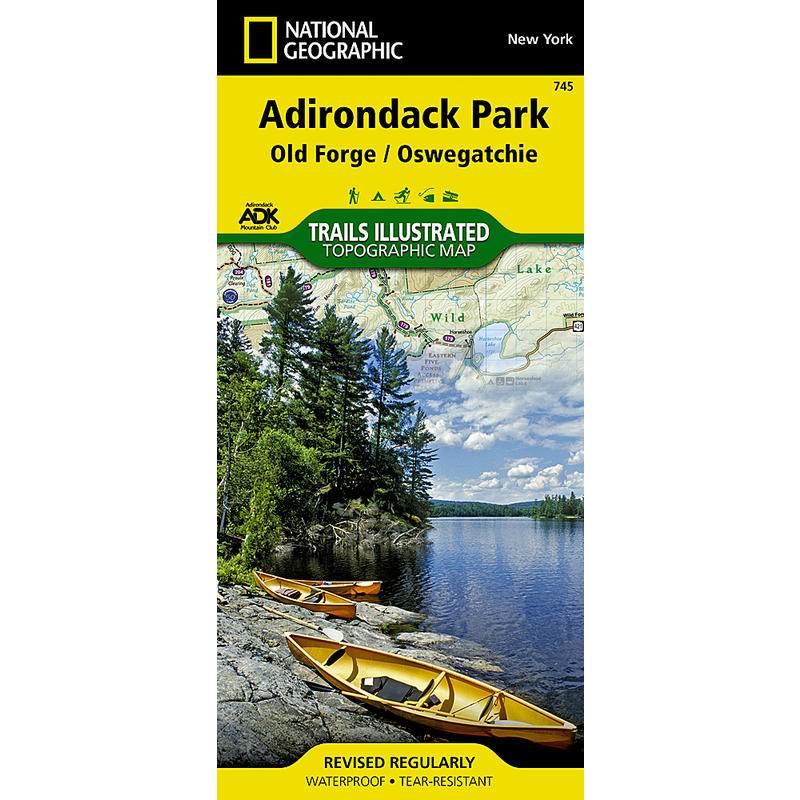 Adirondak Park Old Forge/Oswegatchie Map ADK 745