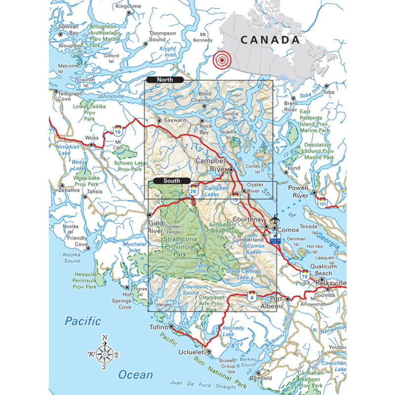 Strathcona Park Map Campbell River & Strathcona Park Map (1st Ed)   MEC