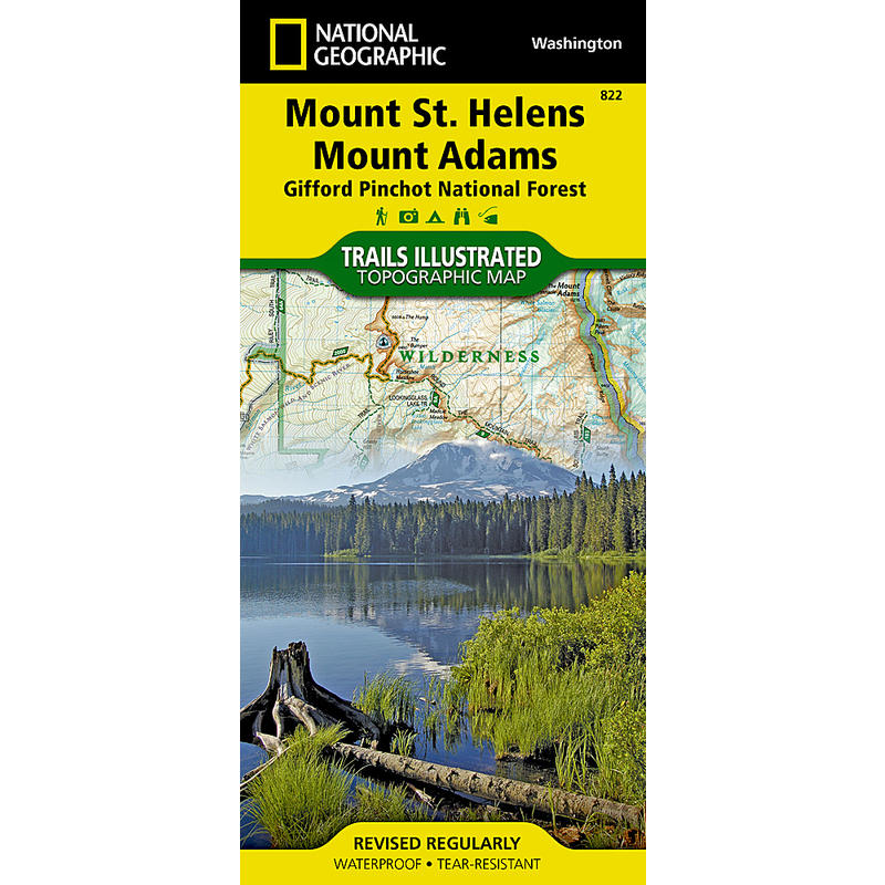 Mount St. Helens Mount Adams Trail Map