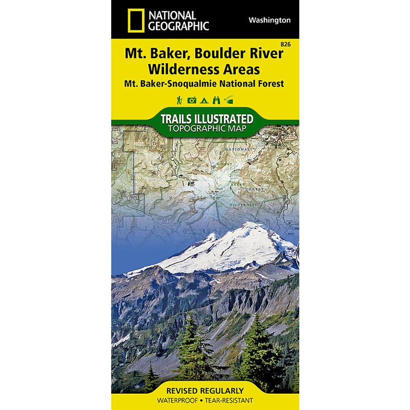 Mount Baker Boulder River Wilderness Areas Map