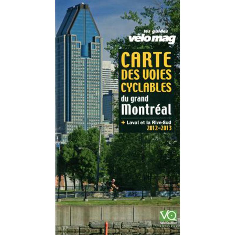 Carte des voies cyclables du grand Montréal