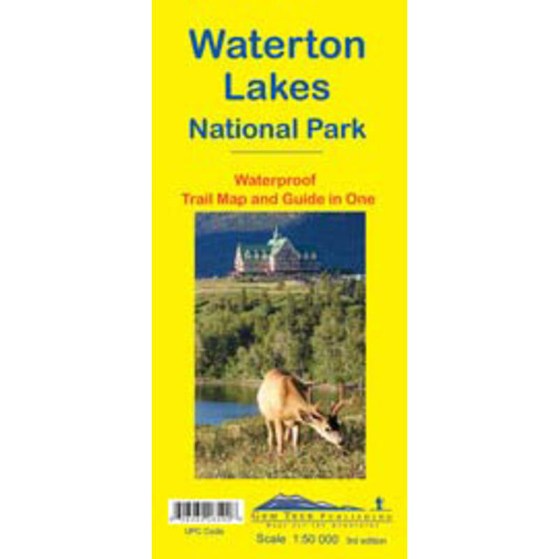 Waterton Lakes National Park Map 3e édition