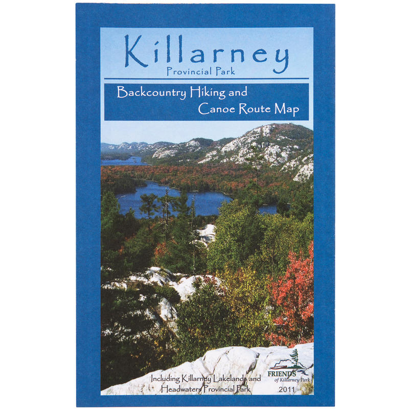 2011Killarney Park Backpack& Canoe Map Waterproof