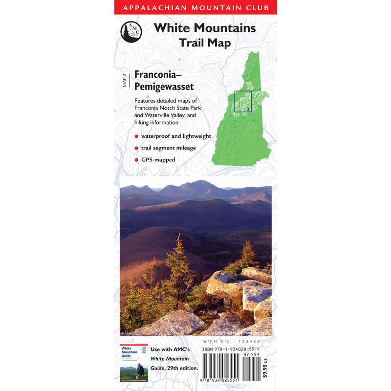 White Mountains Franconia-Pemigewasset Map 2e éd.