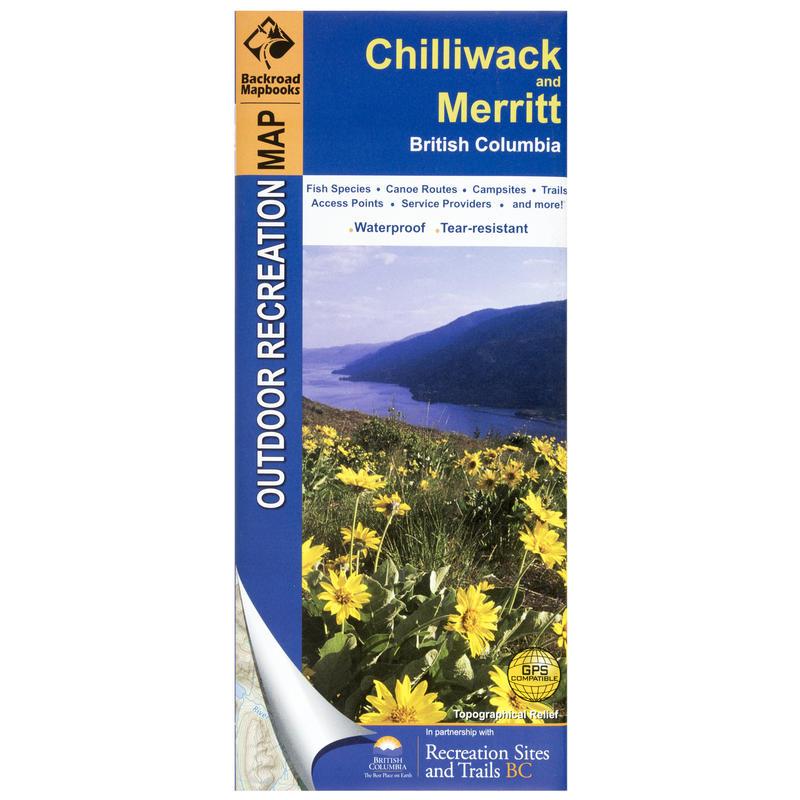 Chilliwack and Merritt Outdoor Recreational Map