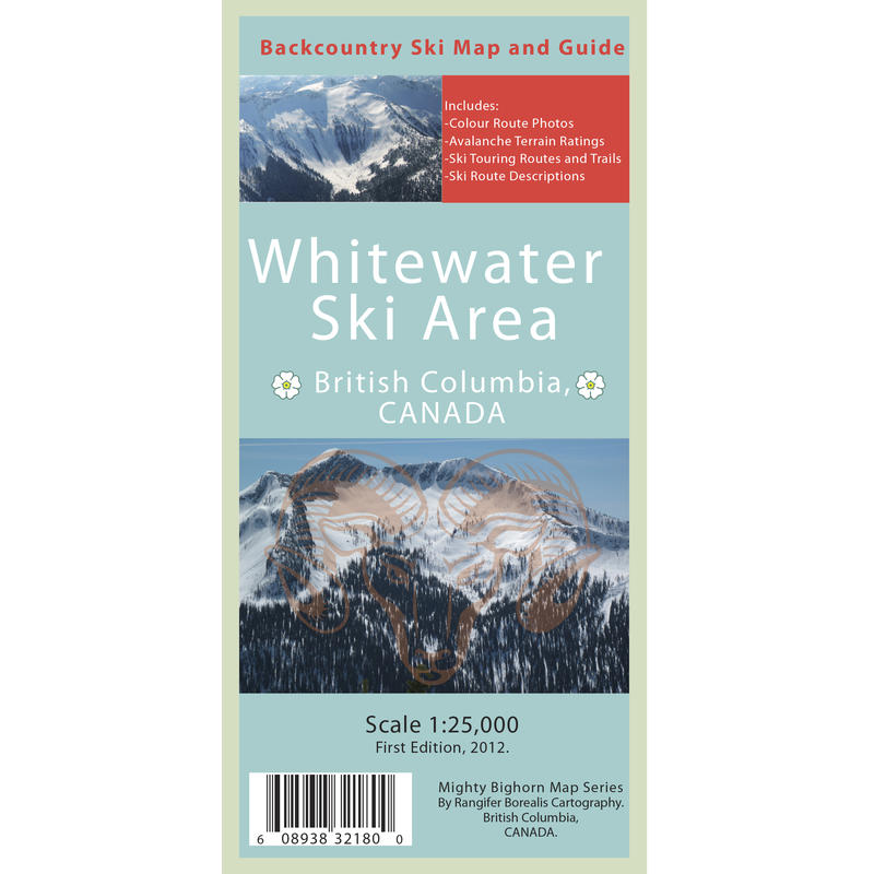 Whitewater Ski Area Backcountry Ski Map and Guide