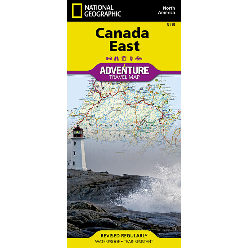 Canada East Adventure Travel Map