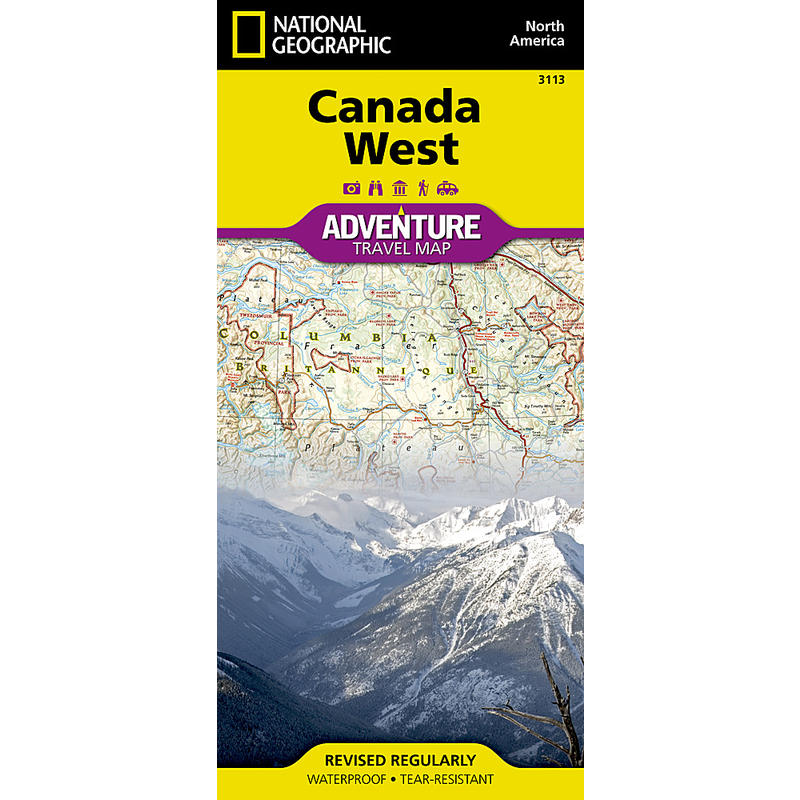 Canada West Adventure Travel Map