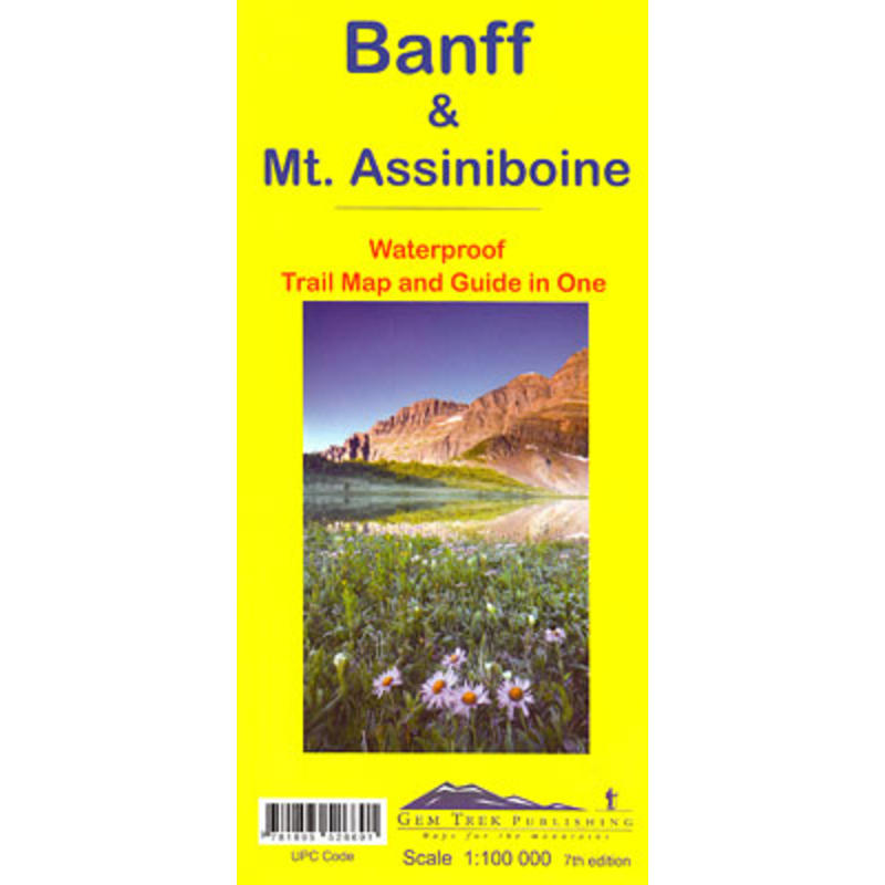 Banff& Mount Assiniboine Map 7th Edition